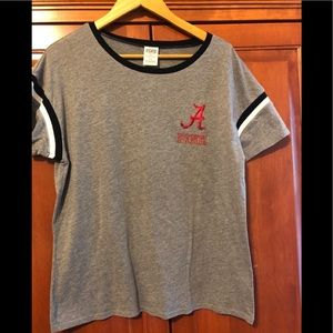 PINK Victoria's Secret Alabama Gray Tee Medium